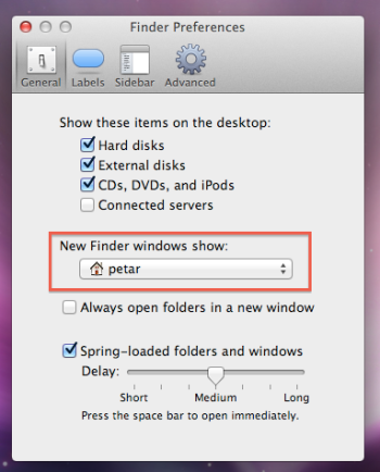 New Finder Window